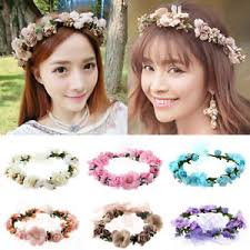 boho hair accessories korean fashion women crown flower headband wedding bridal boho
