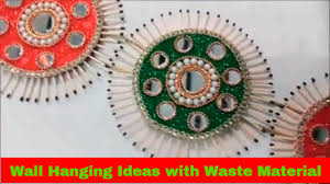 How To Make Wall Decoration At Home by Winsome Easy Wall Hanging With Waste Material Charming Wall