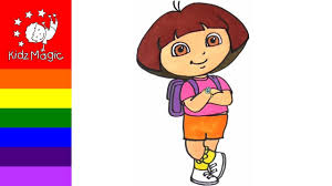 dora the explorer coloring pages for kids drawing art for