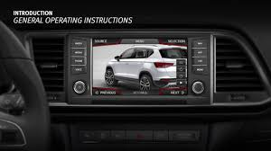 seat ateca 2016 infotainment system overview seat ateca 2016 youtube