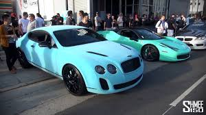 lime green bentley now out of these two cars the light blue velvet bentley