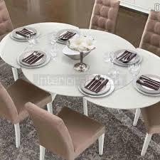 italian extendable dining table glass dining table dama bianca sale now on