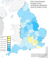 Counties In England Map by Brexit Referendum Results By English County 2000x2428 Mapporn