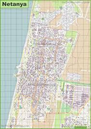 Map Israel Netanya Maps Israel Maps Of Netanya