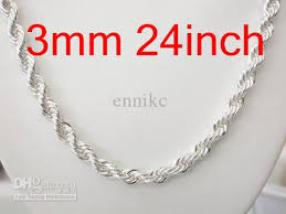 cheap silver chain necklace images 2018 bulk a 925 sterling silver chains necklaces hot trendy jpg