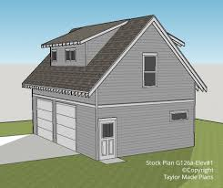 g126a u2013 1 1 2 story two car garage with apartment taylor made plans