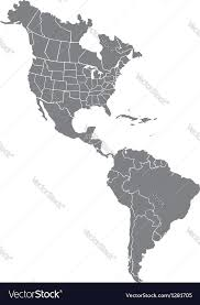 and south america map royalty free vector image