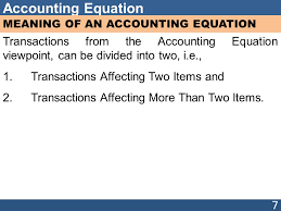 7 accounting equation meaning of an accounting equation transactions from the accounting equation viewpoint can