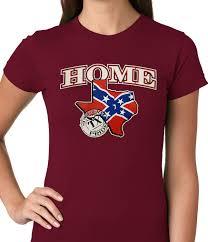 confederate rebel flag texas home ladies t shirt