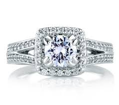 square engagement rings with halo square halo split shank engagement ring halo engagement rings