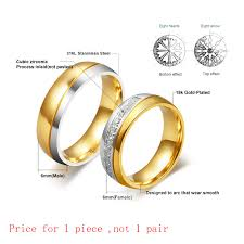images of gold wedding rings vnox wedding ring for women men gold color engagement
