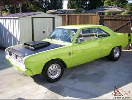 lime green dodge dart dodge dart pro race car 383 stroker 550hp lime green