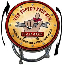 shop bar stool garage counter swivel shop stool with vintage busted knuckle