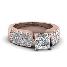 preset engagement rings pave accented 2 ct princess cut big engagement ring in