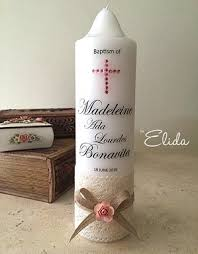 baptismal candles by elida wedding candles christening candles personalised candles