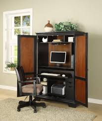Sunrise Computer Armoire by Furniture Sauder Edge Water Computer Armoire Plus Hutch And Desk