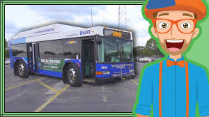 bus videos for children by blippi educational videos for kids