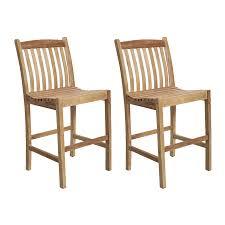 Teak Patio Furniture by Shop International Home Amazonia Teak 2 Count Light Brown Teak