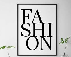Fashion Bedroom Fashion Wall Decor Etsy