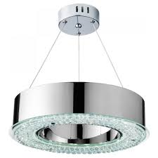 Searchlight Ceiling Lights Searchlight Chrome And Glass Led Ceiling Light 4076 48cc