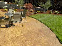 Wood Grain Stamped Concrete by Stamped Concrete Details Landscape Art