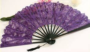 lace fan wes terner s outfitters small cotton battenberg purple lace fan 2851
