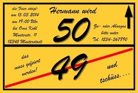 sprüche zum geburtstag 50 einladungskarten einladungskarten zum 50 geburtstag