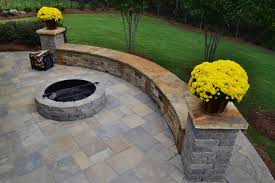 Stone Patio With Fire Pit Atlanta Patio Design Build Personal Touch Lawn Care