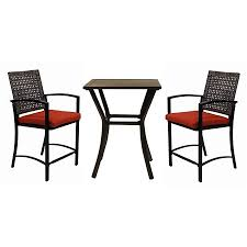 Stackable Patio Furniture Set - shop garden treasures lunburg 3 piece black aluminum patio dining