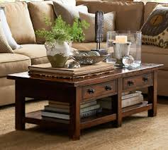 home decor pottery benchwright coffee table rustic mahogany stain pottery barn au