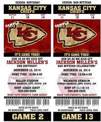 printable birthday party invitation card kansas city chiefs