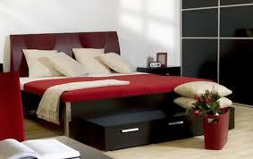 creative red and black modern bedroom 22 for home decor ideas with