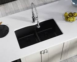 black faucet with stainless steel sink stainless steel sinks and faucets for kitchens and baths