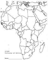 Africa Map With Countries by Countries Map Blank