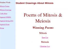 poems of mitosis u0026 meiosis meiosis cell biology
