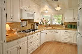 Ceramic Tile Backsplash Kitchen Kitchen Dark Wooden Cabinet Wooden Storage Mosaic Tile