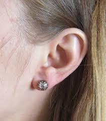 top earings cut diamond silver top gold stud earrings at 1stdibs