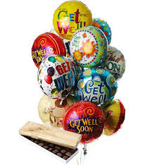 custom balloon bouquet delivery get well balloon bouquet chocolates mylar balloons