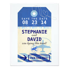luggage tag save the date destination save the date cards