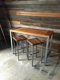 wood counter height table counter height reclaimed wood kitchen table pub table what we make