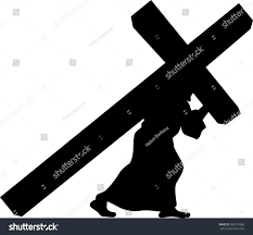 jesus carrying cross clipart clipartfest