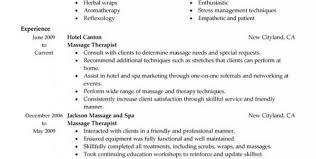massage therapist resume example