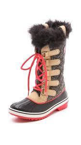 sorel tofino s boots canada sorel tofino herringbone boots in brown lyst