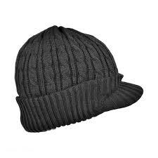 jaxon hats cable knit acrylic visor beanie hat beanies