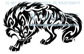 prowling tribal wolf tattoo by wildspiritwolf on deviantart