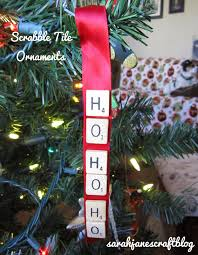 s craft scrabble tile ribbon ornaments