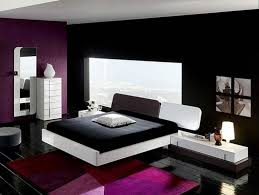 Purple Themed Bedroom - dark purple paint for bedroom white picture frame black fabric