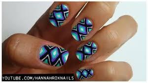tribal print nail art for teen vogue youtube