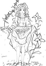 dessin de coloriage fille à imprimer cp11910