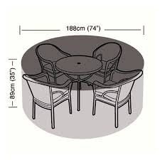 Round Patio Furniture Cover Protector 4 6 Seater Circular Patio Set Cover 188cm